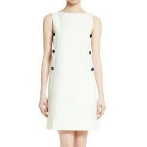 TORY BURCH NEW IVORY CARRIE DRESS 10 NWT